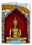 Gold Buddha Card