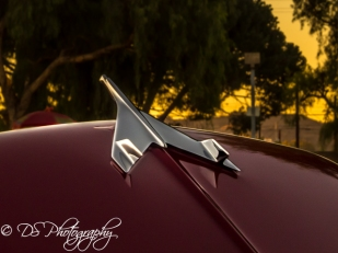 Maroon Bel Air hood ornament
