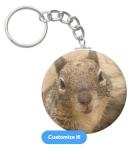 Smiling Squirrel Keychain