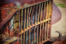 Rusted vehicle grill