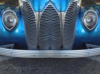 Blue Vintage Car - Before